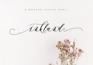 Inkland script font 1